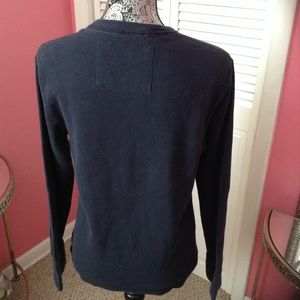 AMERICAN EAGLE Shirts - AMERICAN EAGLE  THERMAL NAVY TOP M